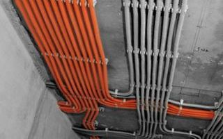 Монтаж электропроводки по потолку