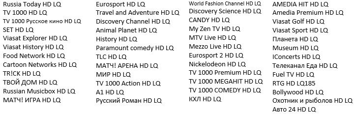 список hd каналов Ростелеком
